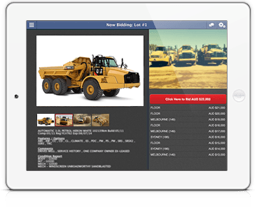 Webcast auction software on iPad